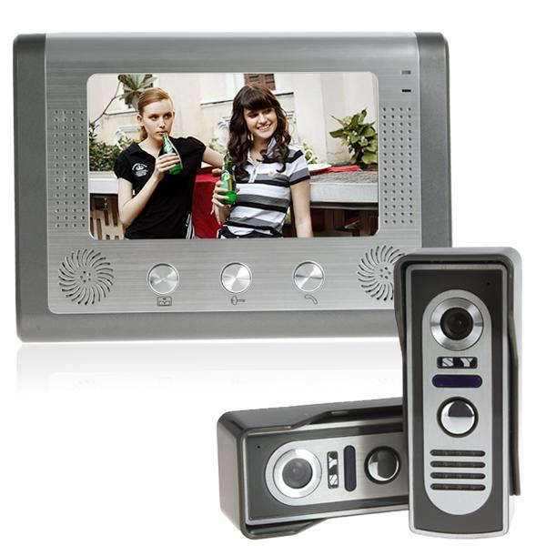 "video door phone access control intercom 7"" TFT LCD color video door bell"