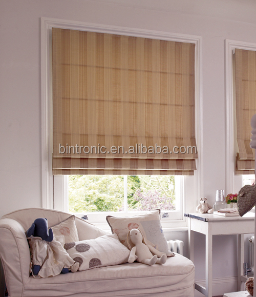 Bintronic Remote Control Shade Taiwan Supplier Motorized Roman Blinds Electric Blind Curtain Motor