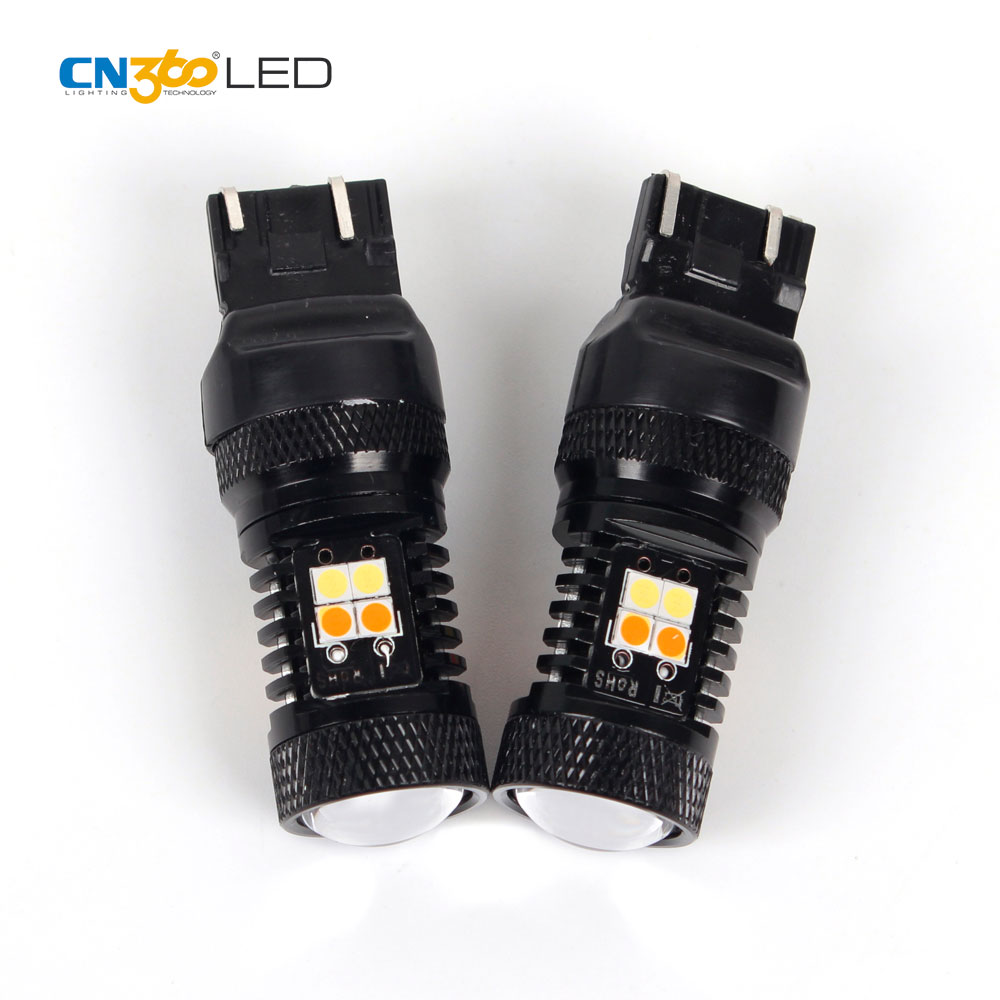 High lumen switchback led light car 1157 3157 7443 led auto lamp bulb