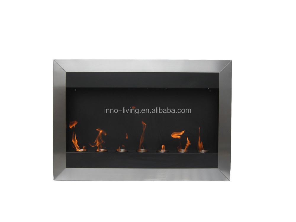 Wall mounted fireplace ethanol alcohol fuel