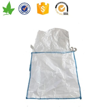 pp woven bulk big sack bags with discharge spout/pp sand big bag