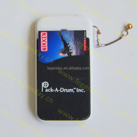 Free samples 3M sticker silicone smart wallet mobile card holder for advertisement promotion