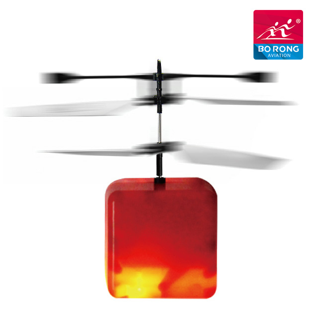 fancy flash light toy mini craft flying ufo rc sensor magical colored heli ball from china BR-B22-4