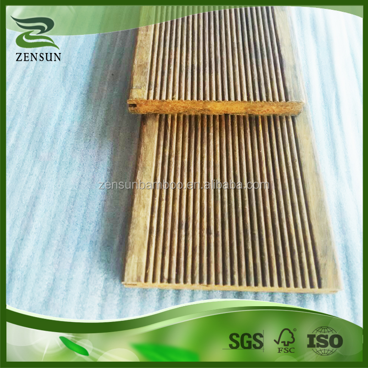 Quality assurance natural long service life bamboo outdoor flooring