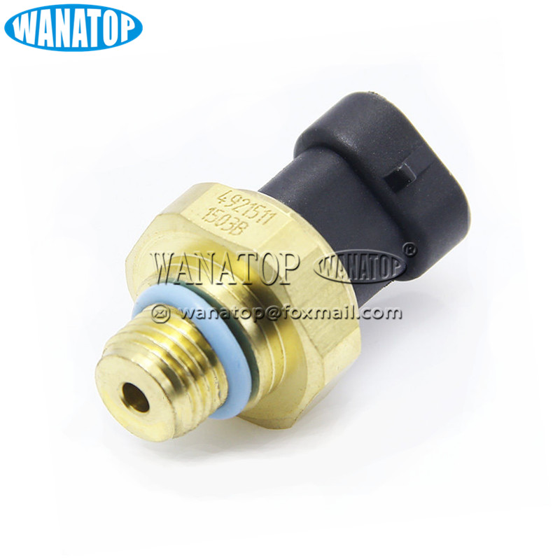 NEW Fuel Oil Gas Pressure Sensor Switch Transducer For <strong>Cummin</strong> s <strong>N14</strong> M11 ISX L10 5.9L 4921511 3083716 3080406