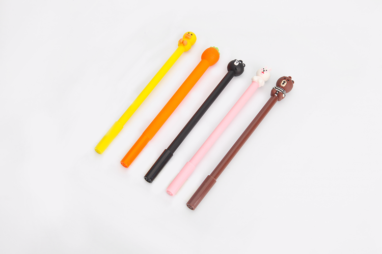 School Supplies Lovely Stationery Korean Slim Plastic Cute Animal Shaped Ball Pens