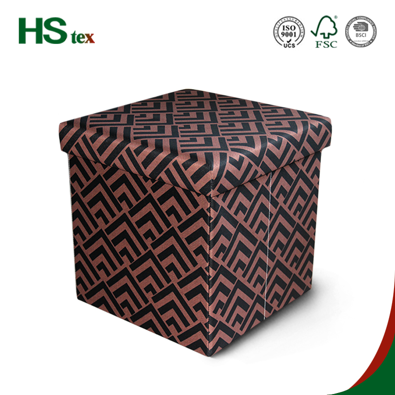 Cheap! HStex home furniture wholesale fabric foldable storage ottoman