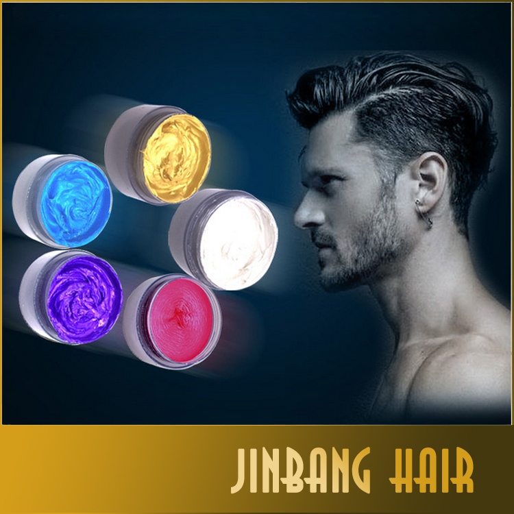 Colorful Wax Dynamic Modelling Hair Mud Water Gel Hair Modelling Product Pomade Stereotypes Men's And Women's Hair Clay Wax