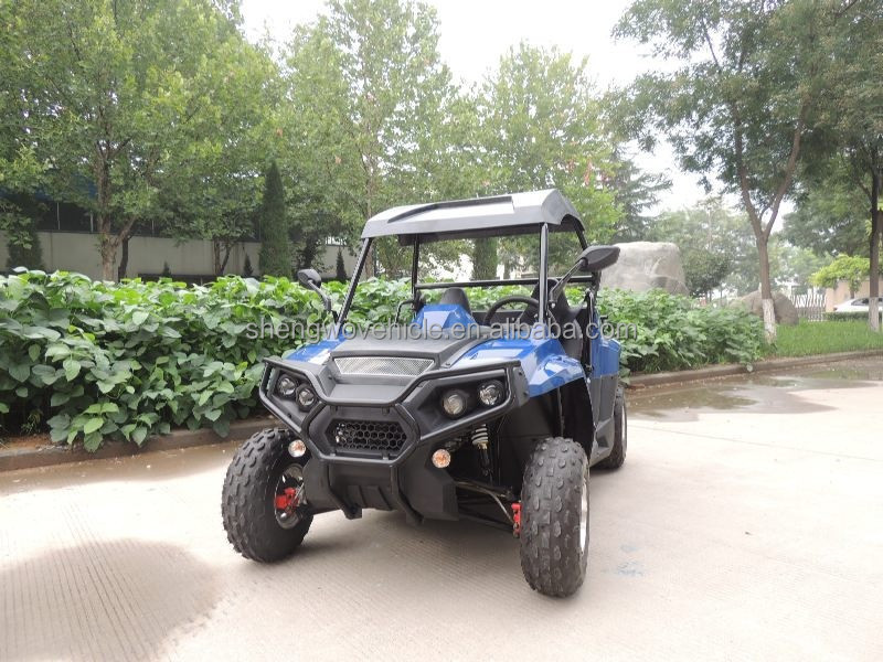 Chain drive transmision system gas/diesel fuel 150cc/200cc 2wd side by side kids utv