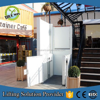 be customer-made access control electric No pit needed accessible inclined platform lifts