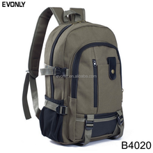 China manufacturer Canvas Laptop Backpack School Bag
