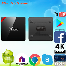 2017 Hot selling X96 Pro Xnano S905X 2g 16g download user manual for m8s Android 6.0 TV Box