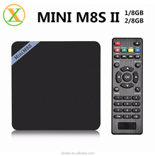 2016 Topsale android 6.0 smart TV box MiniM8SII Amlogic S905X quad core download user manual for android TV box Mini M8SII