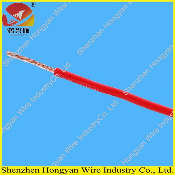 450/750v single core stranded copper conductor pvc coat flexible electrical wire