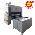 chain feeding double colour printing and slotting machine