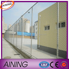 Angle post chain link fence