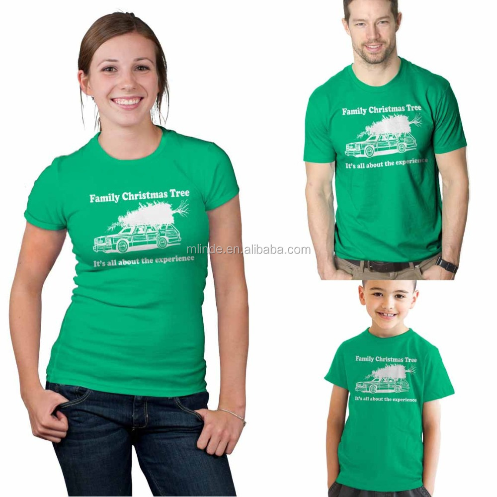 Wholesale Fitted Printing Couple Lovers T-Shirt Tee Shirts Custom Men And Woman Unisex Family Christmas Tshirt
