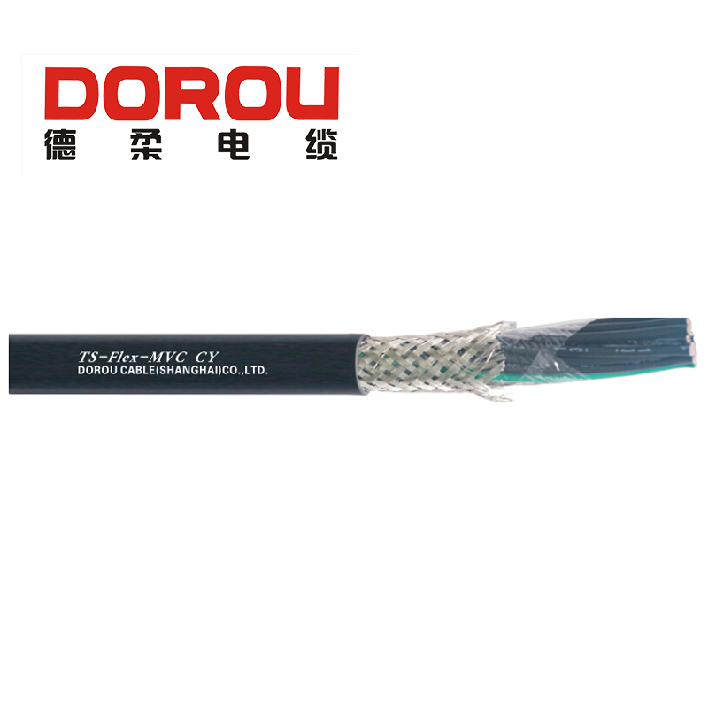 Screened electrical cable for low velocity machine tool