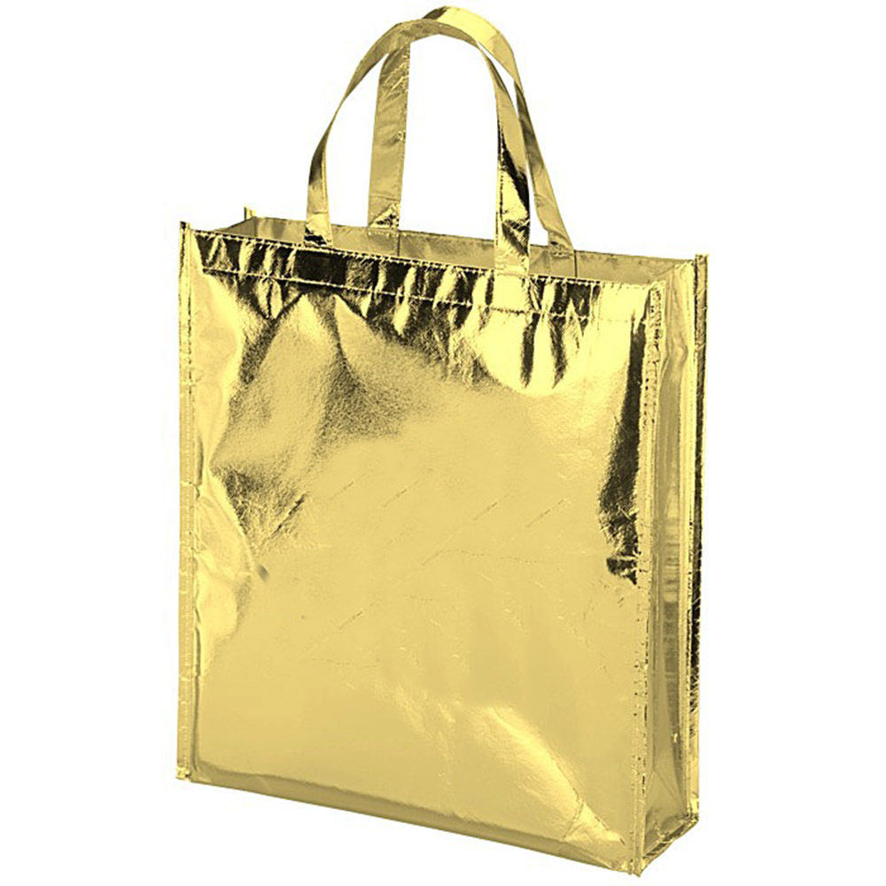 Promotional Custom Metallic Laminated Non Woven Shopping Bag Totes Print Your Custom Logo