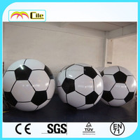 CILE 2015 Newest customized Colorful Inflatable football float on water or with Helium to Fly