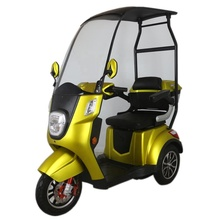 EW-44 Sport 3 Wheel Electric Recreational Handicapped Mobility Scooter with Electromagnetic Brakes 18mph Roof or Sunshade Canopy