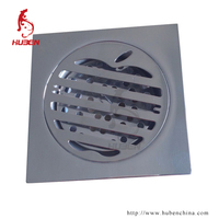 High quality 100MMx100MM square stainless steel floor drain trap