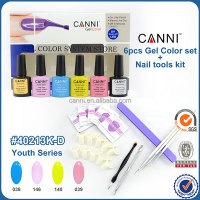 #40213 CANNI full set uv gel kit manicure nail kit gel polish kit,nail polish making kits,professional uv gel nails kit