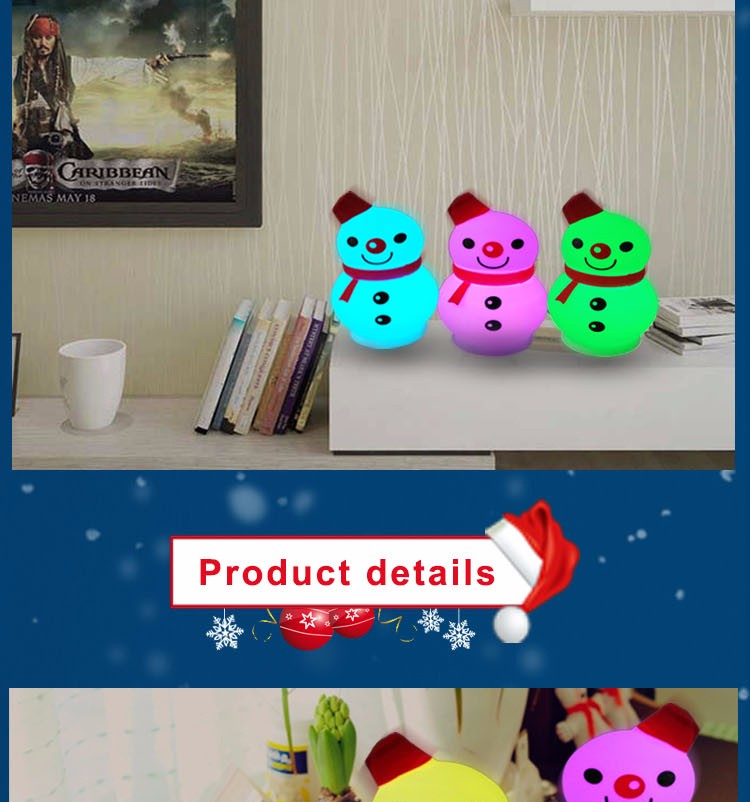 Best sale lovely mini cartoon snowman night light for baby
