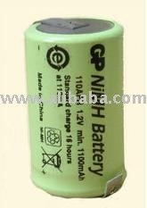 Tagged 2/3AF size NiMH 1100mAh GP industrial cell - 100AFH