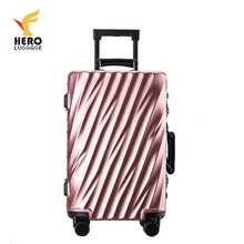 Cheap Hard Shell 24 Inch Trolley 100% Pure Pc Luggage Hitrip Aluminum Travel Bag Suitcase/ Case/luggage