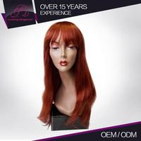 100% Human Hair Custom Color Straight Brazilian Long Pigtail Cosplay Wig