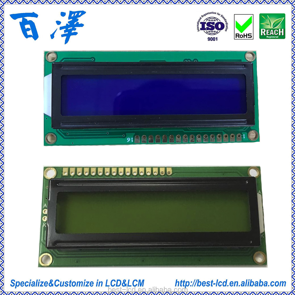 Manufacture Hot Selling STN LCD 16X2 LCD 1602 LCM