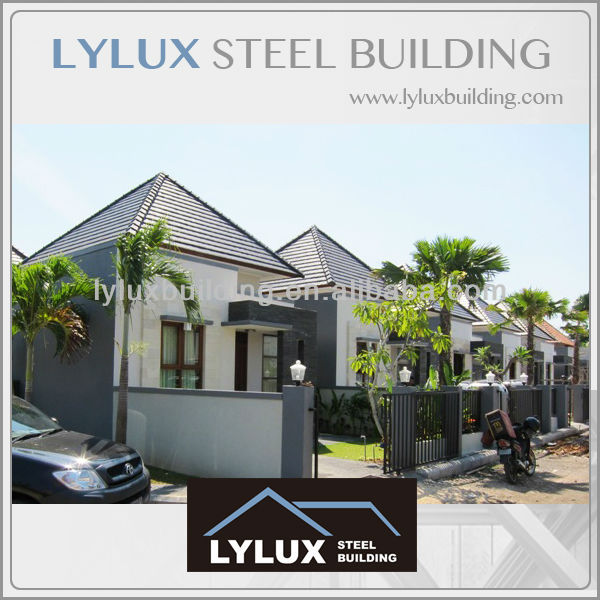 Prefab steel vacation house villa apartment,metal green apartment,cheap small house
