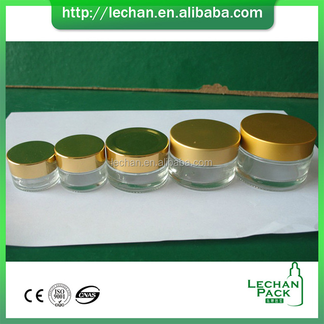 5g 10g 15g 30g 50g Clear Amber Face Cream Glass Container Comestic Jar