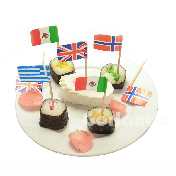 Union Jack American Food Promotional Customized flag toothpick