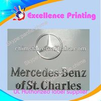 self sdhesive custom mercedes benz car logo