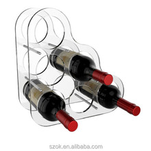 hot selling new style clear acrylic wine bottle holder wholesale