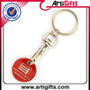 Handmade sports promotional key chain in trolley coin