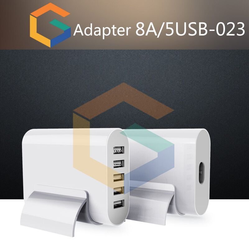 Universal 5 Ports 25W USB Wall Charger Travel Plug Desktop USB HUB Splitter Multi Port Rapid Charging Socket Phone Charger