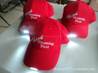 outdoors baseball cap/led lighted hat and caps/led baseball cap
