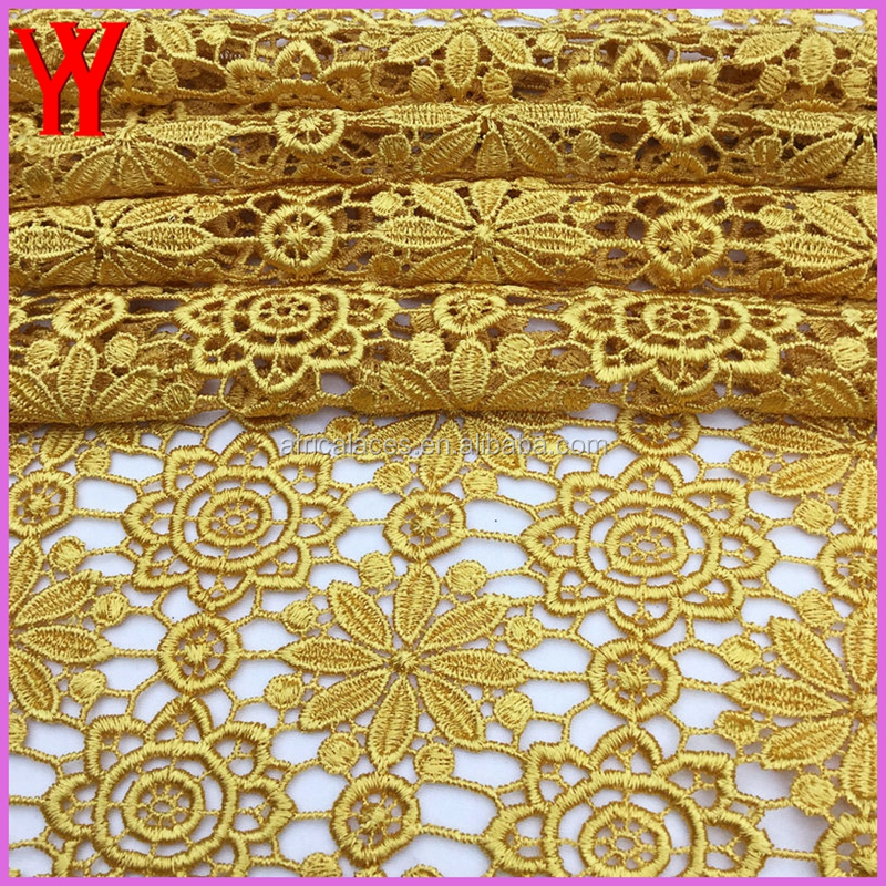 Coral cutwork african lace fabrics / high quality african cord lace 5 yards
