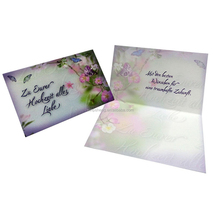 Chinese manufacturing companies chart paper decoration wedding invitations