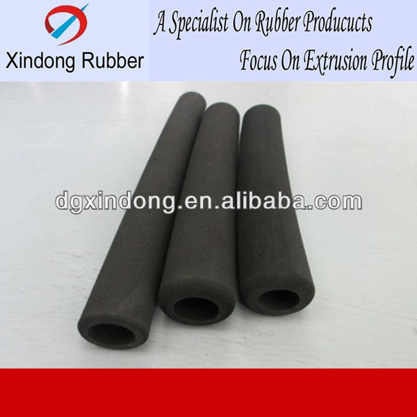 Black neoprene rubber foam tube from China professional factory