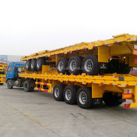 3 Axles Flatbed Semi Trailer For