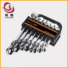 professional single flexible ring ratchet wrench adjustable wrench spanner
