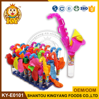 Saxophone Toy Candy with Balloon,sweet candy toys