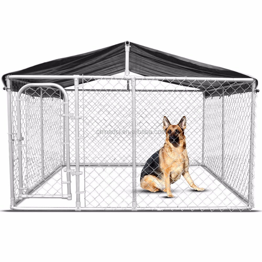 10x10x6 foot classic galvanized outdoor dog kennel/metal dog run cage/animal cages
