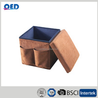 suede fabric folding storage cube