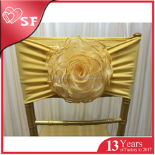 Beautiful organza rose sashes chair cover for wedding/events/party