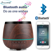 2017 new bluetooth speaker ultrasonic aroma essential oil diffuser air humidifier